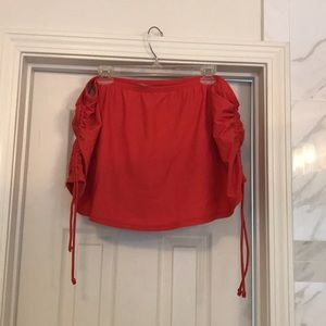 Cacique swim skirt in size 20W pink/orange